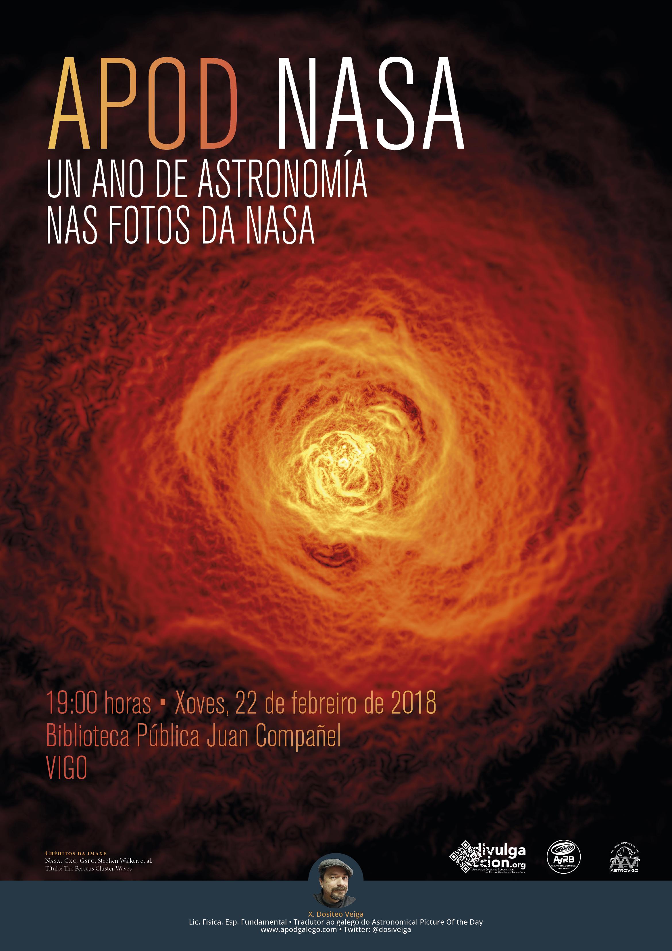 Un ano de astronomía nas fotos da NASA, 22 de febreiro en Vigo