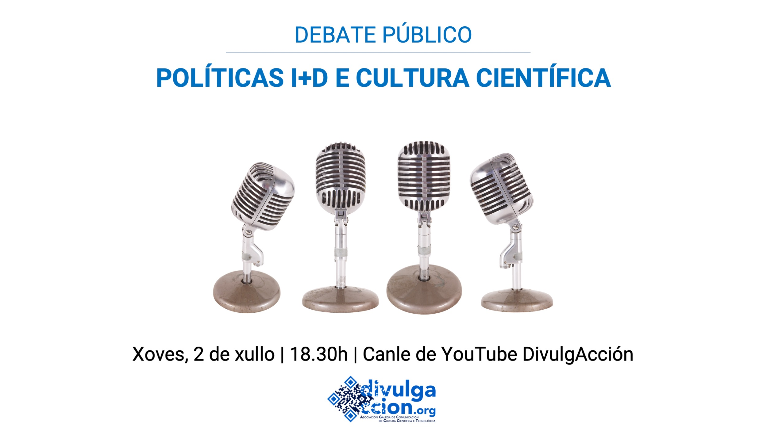 Divulgacción leva a ciencia ao centro da campaña cun debate electoral que se emitirá este xoves por YouTube